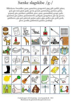 Ugens pin (fonembingo /k-/) Cooperative Learning, Teaching Materials, Word Work, Speech Therapy, Kindergarten, Preschool, Language, Letters, Education