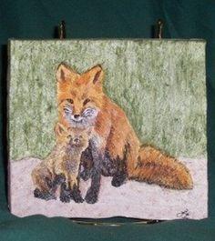 Linda Beasley ~ Fox and kit tile