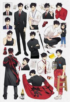 Kuroo Haikyuu, Haikyuu Manga, Kuroo Tetsurou, Haikyuu Fanart, Manga Anime, Kenma, Anime People, Anime Guys, Fanarts Anime