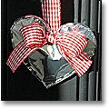 valentine craft ideas: door decorations made of recycled coffee bags