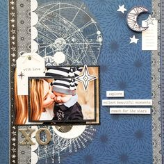 Baby Scrapbook, Scrapbook Pages, Photo Layouts, General Crafts, Craft Work, Craft Items, Stargazing, Scrapbooking Layouts, Cards