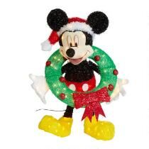 """30"""" Lighted Mickey with Wreath"""