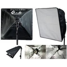 Interfit INT151 EZY FLO Light Kit with 2 Heads, Softboxes, Stands and Educational DVD