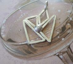 Sterling Silver Geometric  Pendant 100% by MaroonedJewelry on Etsy