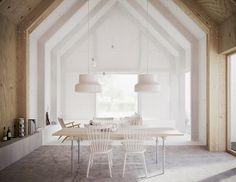 Corrugated aluminum house in Sweden   designboom