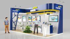 Bank Mandiri on Behance Exhibition Stall Design, Exhibition Display, Exhibition Stands, Exhibit Design, Stand Design, Display Design, Exibition Design, Stand Feria, Advertising Design