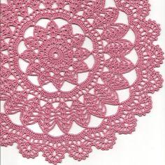 Toalhinha de crochê rosa
