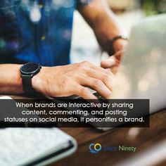 When brands are interactive by sharing content, commenting, and posting statuses on social media, it personifies a brand. Marketing Branding, Social Media Marketing, Digital Marketing, Competitor Analysis, Advertising, Content, Business, Inspiration, Biblical Inspiration