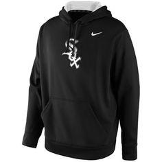 Chicago White Sox Nike KO Wordmark Performance Hoodie - Black