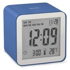 - LCD alarm clock - Black - Designed by Pierre Garner & Elise Berthier Radios, Lexon Design, Light Sensor, Digital Alarm Clock, Cube, Metal Fashion, Furniture, Alarm Clock, Design Offices
