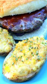 Inspired By eRecipeCards: Grilled Twice Baked Corn Potatoes - Grilling Time Side Dishes