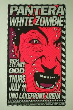 PANTERA + WHITE ZOMBIE I totally saw this tour in Sacramento