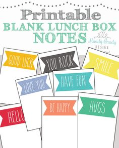 Printable lunchbox notes #weePLAN