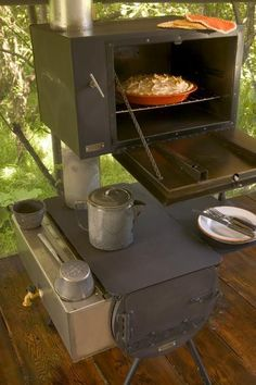 Even cooler than when I stayed there - Each tent comes equipped with a wood stove and OVEN! At MaryJane\'s Farm.