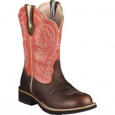 10001205 Ariat Women's Fatbaby Showbaby Western Boots - Rose www.bootbay.com