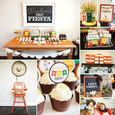 Vintage Fiesta First Birthday Party by The Good Life Blog + printables by Wants and Wishes!
