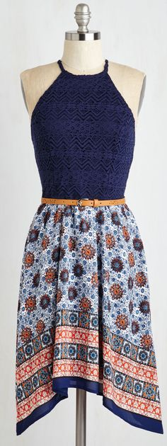 Printed skirt dress makes for the perfect European summer vacation outfit