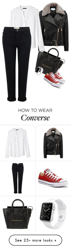 """"""""""" by kacakatarina982 on Polyvore featuring Reiss, Banana Republic, Current/Elliott, Converse, CÉLINE and Apple"""