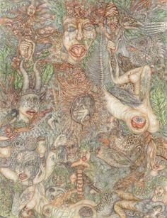 """ les gardiens "" (50/65 cm, 2015)"