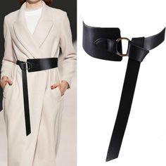 New Black Wide Corset leather Belt Female Tie Obi Waistband thin brown Leather Corset Belt, Wide Leather Belt, Leather Belts, Women's Belts, Leather Accessories, Women Accessories, Fashion Accessories, Cinto Obi, Obi Belt