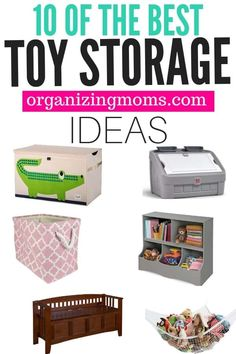 Toy storage solutions you can find on Amazon. Great for organizing playrooms, bedrooms, or anywhere there's a lot of toy clutter in your home. Kid Toy Storage, Playroom Organization, Home Organization Hacks, Organizing Toys, Organizing Your Home, Organizing Ideas, Toy Storage Solutions, Clutter Solutions, Storage Ideas