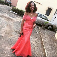 Fab wedding guest @funmbi_o, gorg dress ❤! #NWglam #NigerianWedding