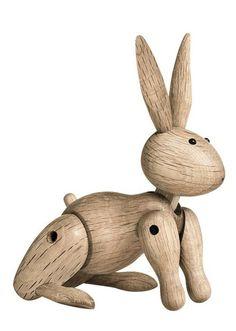 Wooden Rabbit by Danish silversmith and designer Kay Bojesen (1886-1958)