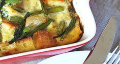 Overnight Asparagus & Mushroom Strata