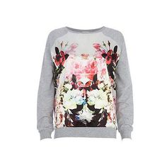cb9ad15ef93683 Women's Floral Print Sweatshirt Tops Jumper Sweatshirt Sweater Pullover  Hoody US | eBay