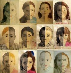Funny Face Flip Book //  diy  crafts  flipbook #authors #authors #funny Portrait Picasso, Portrait Art, Portraits, Arte Elemental, Art Texture, Atelier D Art, Ecole Art, School Art Projects, Middle School Art