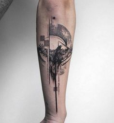 52 Best Tattoos Inspired by Classical Art and More for Handsome Mens tattoos inspired by art; tattoos inspired by books; tattoos inspired by movies; tattoos inspired by depression; tattoos inspired by history; tattoos inspired by nature Small Tattoos Men, Tattoos For Women, Crow Tattoo For Men, Tattoo Women, Outer Forearm Tattoo, Cool Forearm Tattoos, Inner Forearm, Tattoos Bein, New Tattoos