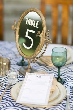mirror table number | Mary Fields Photography