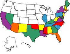 States Visited Map...mine has 47 states