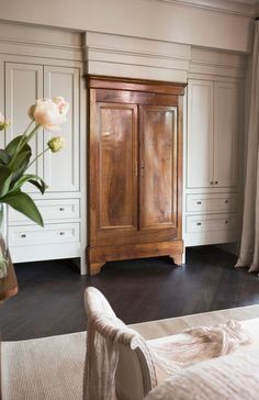 Image result for built ins around armoire