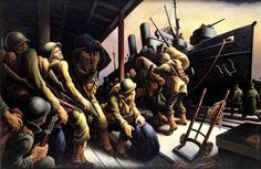 Thomas Hart Benton, (1889-1975), The year of peril-Embarkation