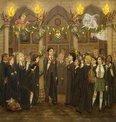 Christmas-at-Hogwarts-harry-potter