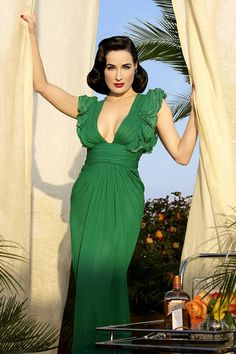 Country Club~ Dita Luxurious  in Green- #LadyLuxuryDesigns