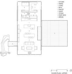 Imagen 20 de 20 de la galería de Casa Sunshine Canyon / Renée del Gaudio. Floor Plan - Upper