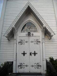 Door to Trømborg church, Norway