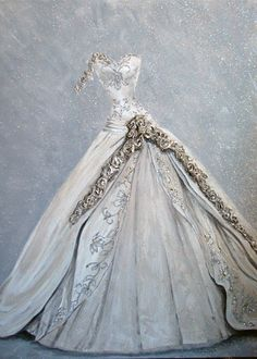 Gowns : try them, wear them, love them ... never thought of painting them though!