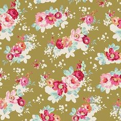 """1 METER BROWN ROSE FLORAL PRINT 100/% COTTON FABRIC 45"""" WIDE JUST ARRIVED"""