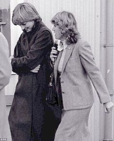Lady Diana Spencer and Camilla Parker-Bowles at Ludlow racecourse in 1980. She advised Charles to marry the Little Mouse! How dare she!! the little tart