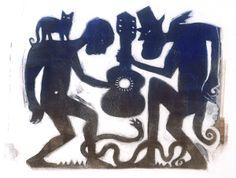 Robert Johnson at the crossroads Papa Legba, Robert Johnson, In The Pale Moonlight, Classic Blues, Blue Artwork, Music Illustration, Music Images, African American Art, Art Music