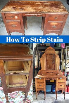 Antique furniture Makeover - How To Strip & Prepare Old Battered Furniture For A Makeover. Painting Wooden Furniture, Refurbished Furniture, Repurposed Furniture, Rustic Furniture, Vintage Furniture, Modern Furniture, Outdoor Furniture, Modular Furniture, White Furniture