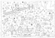 Kolorowanka XXL - kosmos Family Art