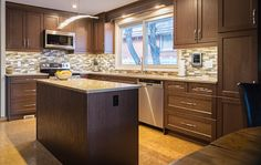A kitchen remodel in Calgary, Alberta was designed with the Redan ...