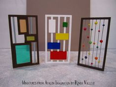 1:12th Scale Dollhouse Miniature Mid Century Modern Room Dividers by MiniaturesfromAvalon