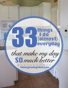 When I wake up feeling discouraged and tired or when I start feeling down or want to wallow in frustration, I've found a number of solutions to help me get back on track and have more of a cheerful, upbeat attitude. These are 33 things that make my day SO much better!