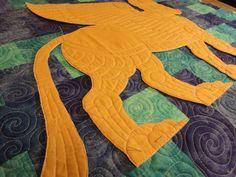 Trapplique shown by Nina Palek on her Shedu quilt