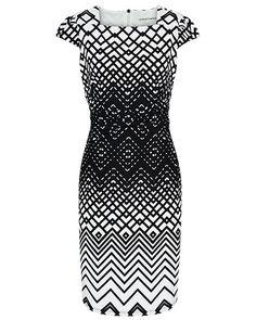 Anthea Crawford Australia Zig Zag Jersey Dress